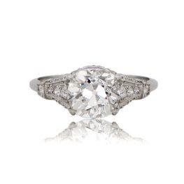 10676B-Platinum-Old-Mine-Cut-Diamond-Engagement-Ring-Ti-View-2