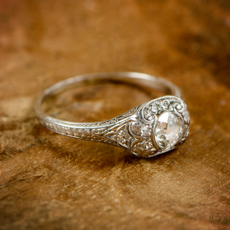 Our latest antique engagement rings Estate Diamond Jewelry