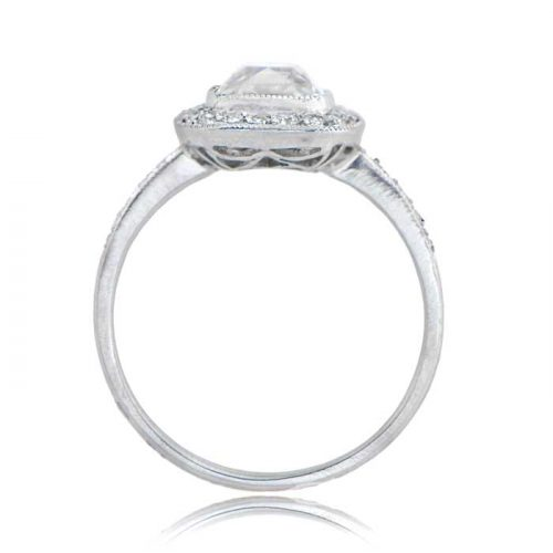 1 55 Carat Old Mine Cushion Cut Engagement Ring