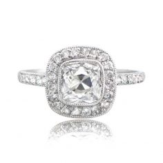 Vintage Cushion Cut Engagement Ring
