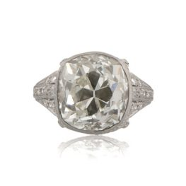 Antique-Cushion-Cut-Diamond-Engagement-Ring-11153-T-View