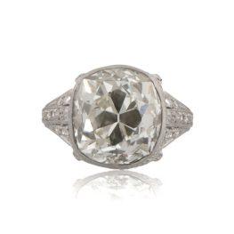 Antique-Cushion-Cut-Diamond-Engagement-Ring-11153-T-View