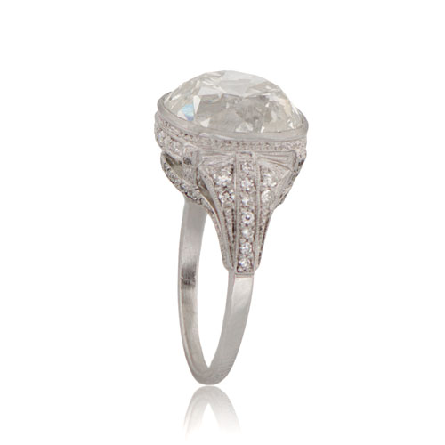 Cushion Cut Diamond Platinum Ring