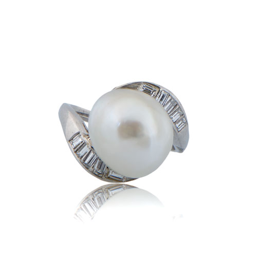 pearl white size media diamond gold rings ring diamonds vintage engagement