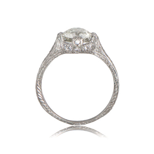Estate jewelry engagement rings : Estate diamond engagement ring rare jewelry