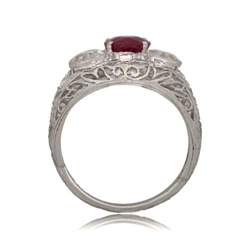 ring victorian three diamond engagement stone ruby rings antique and