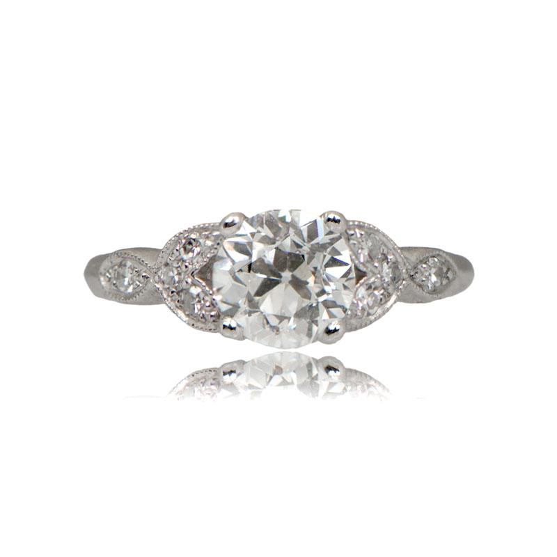 11215-Vintage-Leaf-Motif-Engagement-Ring-TV