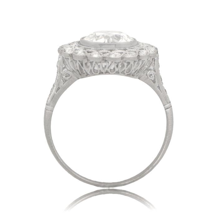 Edwardian Style Old European Engagement Ring Diamond Circa 1920