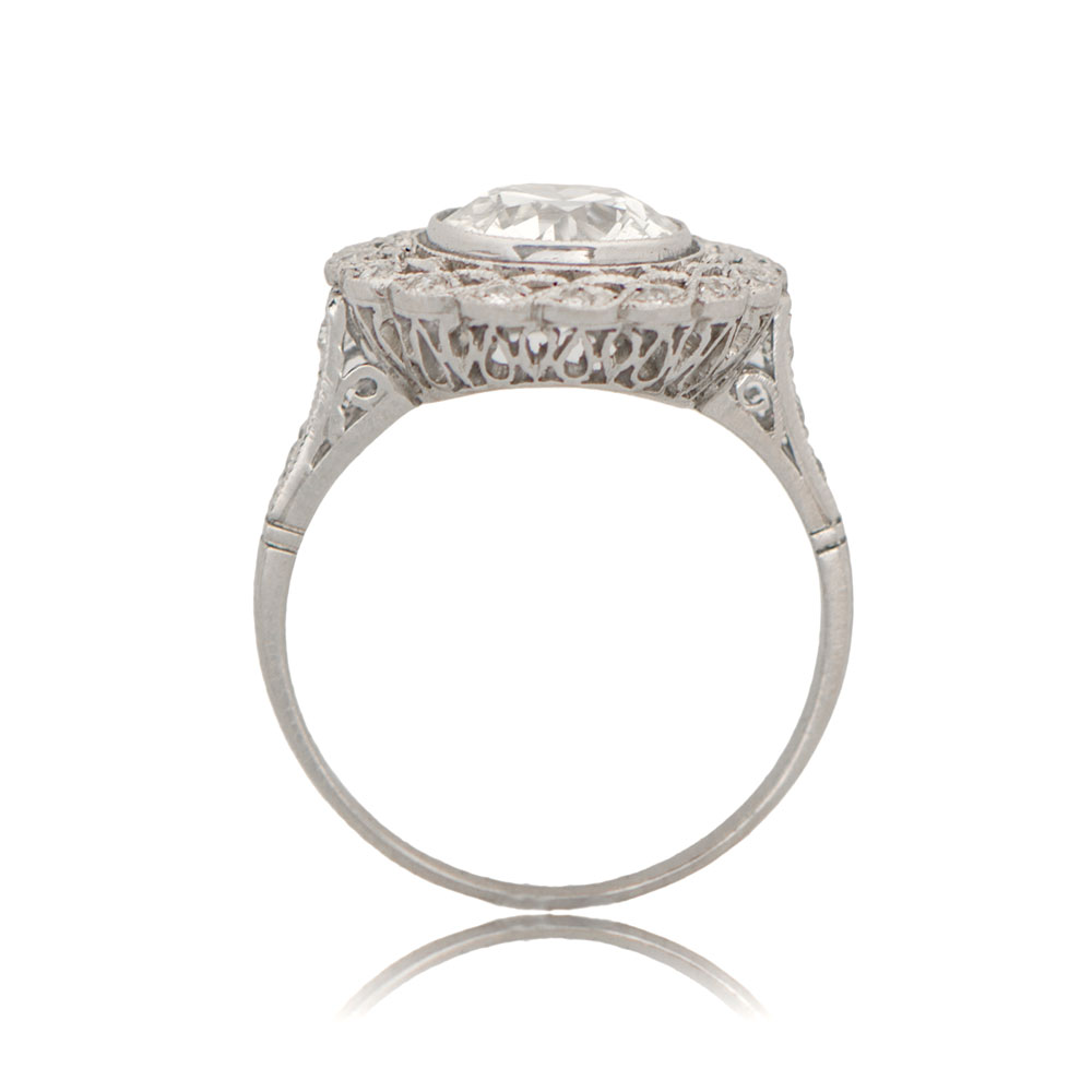 11230 Edwardian Style Old European Engagement Ring Sv