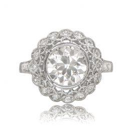 Edwardian Era Style Engagement Ring