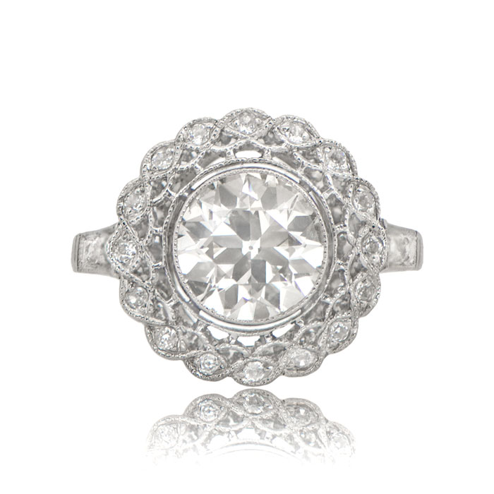 rings engagement ring diamond edwardian jewellery platinum filigree