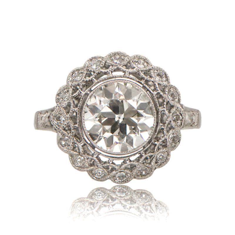 Edwardian Style Old European Engagement Ring