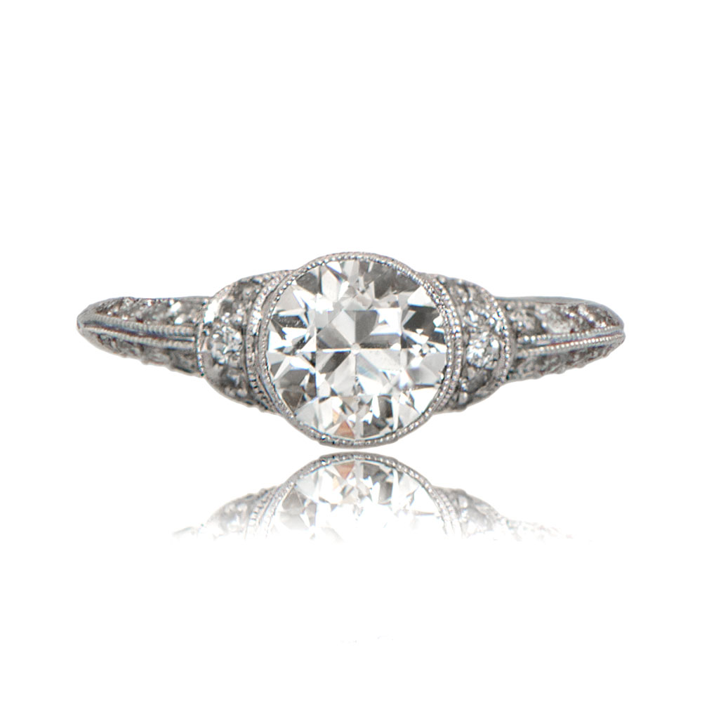 art deco style engagement ring estate diamond jewelry With deco wedding ring