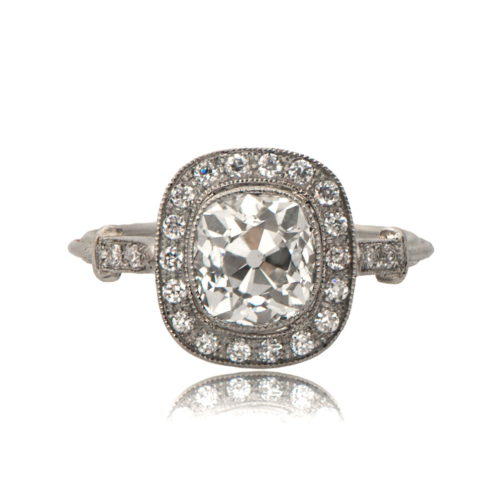Old Mine Cushion Cut Engagement Ring TV