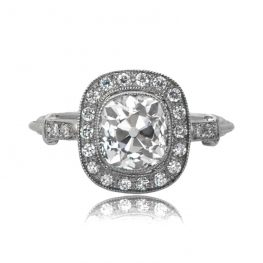Vintage Cushion Engagement Ring