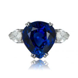 Antique Pear Cut Sapphire Ring