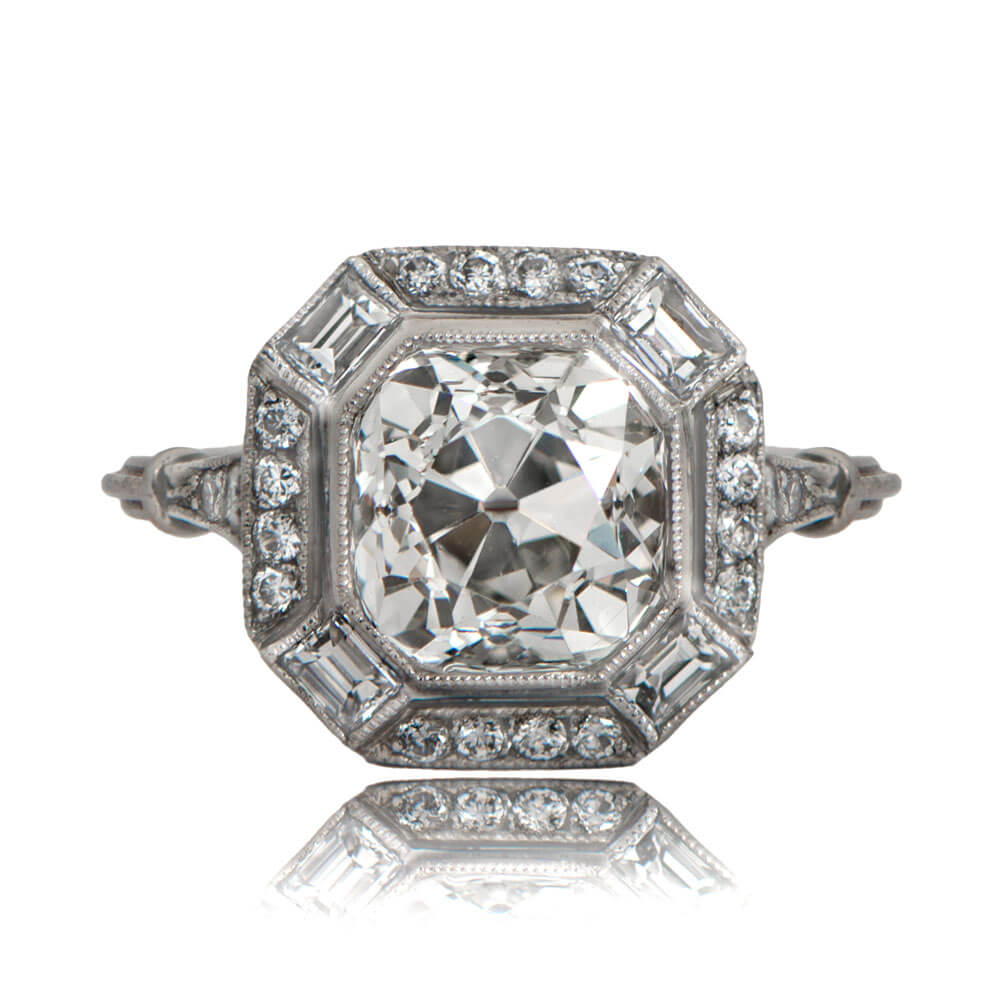 product carat ring rings deco engagement in platinum cut diamond european two art old antique
