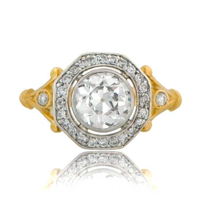 11299 antique edwardian gold engagement ring tv