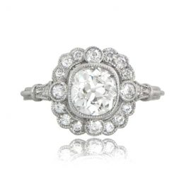 Old Mine Cushion Engagement Ring