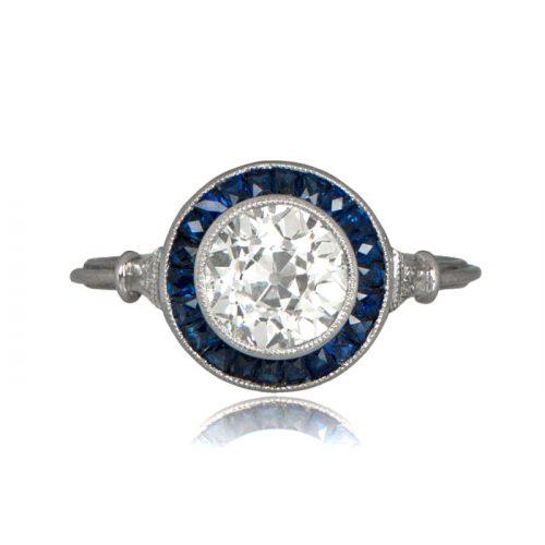 11291-Vintage-Royal-Blue-Halo-Diamond-Ring-TV