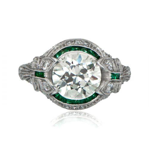 Art Deco Halo Engagement Rings