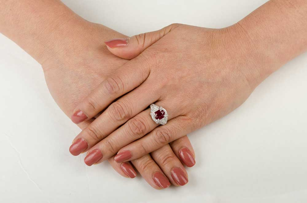 Estate Ruby Engagement Ring Estate Diamond Jewelry