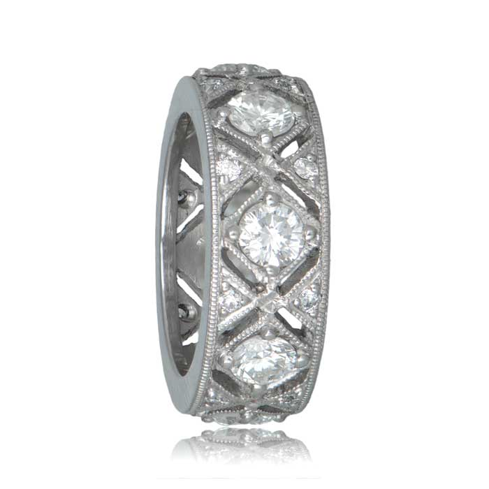 engagement natalie style hand vintage bands diamond by emerald ring product engraved diamonds cut