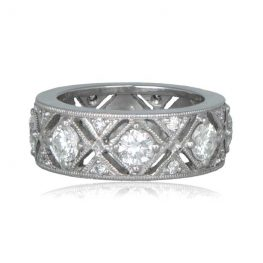 Edwardian Style Diamond Wedding Band