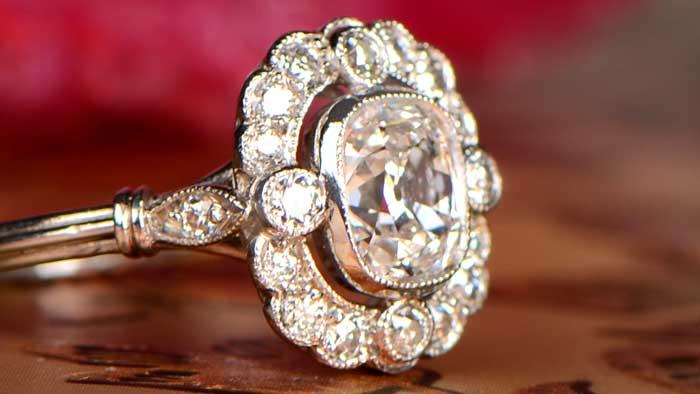 Milgrain on Engagement Ring