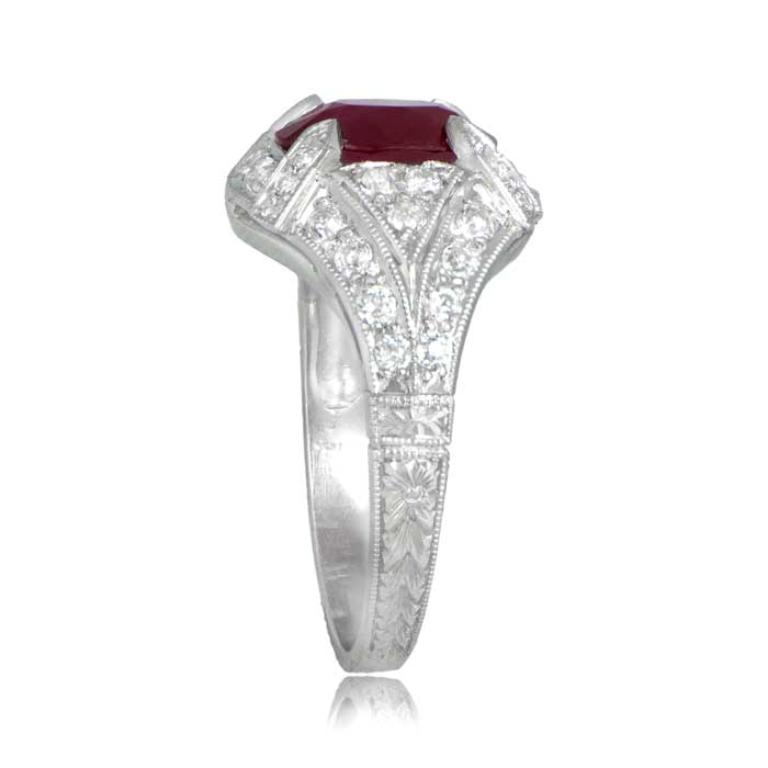 estate ruby engagement ring - Ruby Wedding Ring