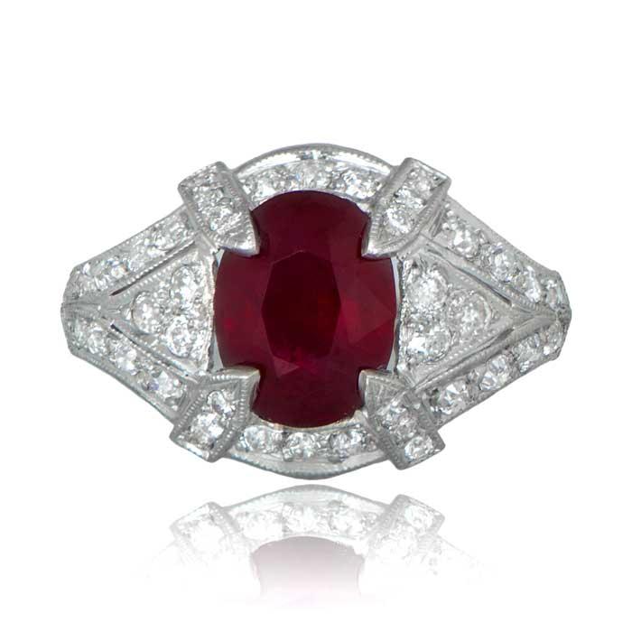 Estate Ruby Engagement Ring