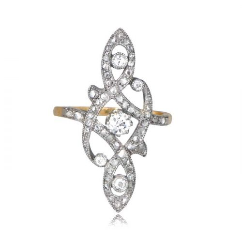 Art Nouveau Platinum Ring