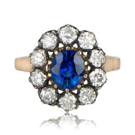 Victorian Sapphire Engagement Ring