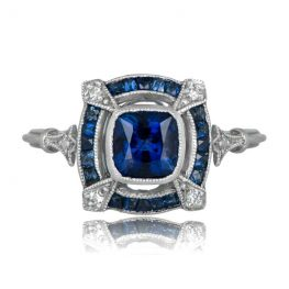 Sapphire Platinum Engagement Ring