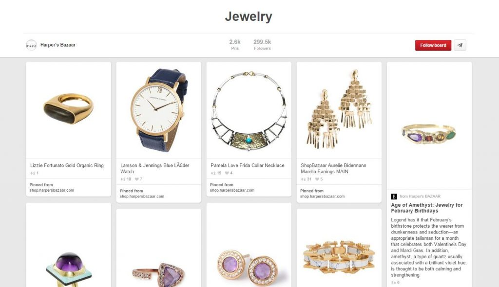 the best jewelry pinterest accounts to follow