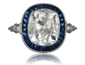 cushion cut vintage engagement rings