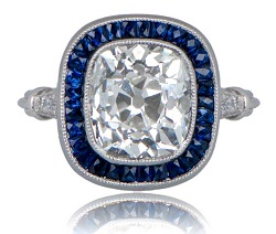 sapphire accent rings