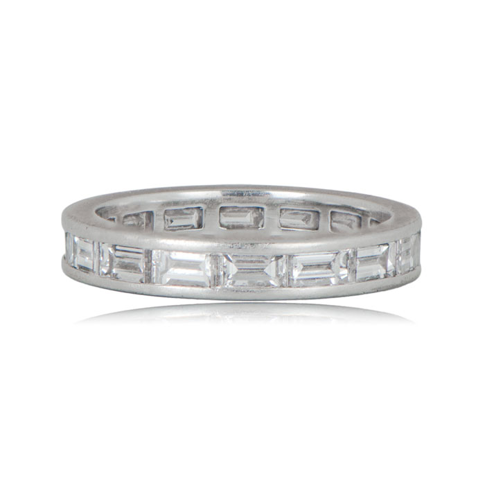 eternity top rings baguette diamond band womens bands wedding