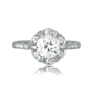 round cut diamond engagement ring)