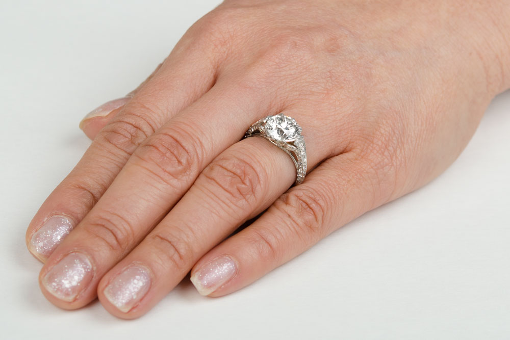 Diamond Engagement Ring On Finger | www.imgkid.com - The ...