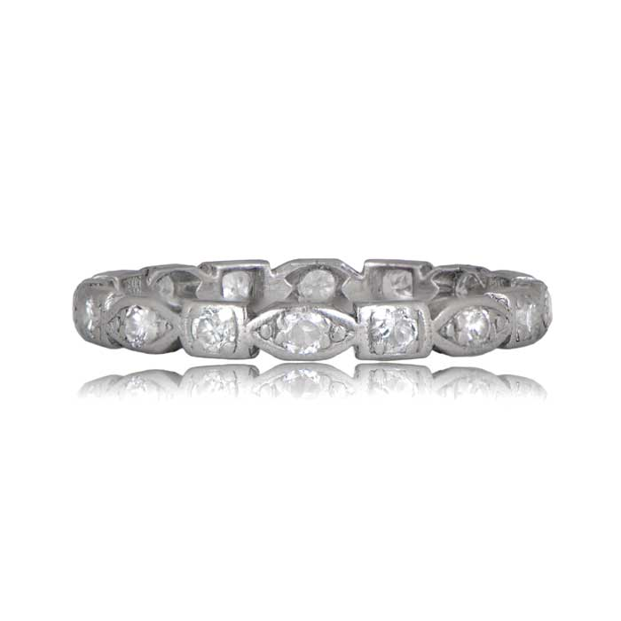 1920s Vintage Diamond Wedding Band Estate Diamond Jewelry