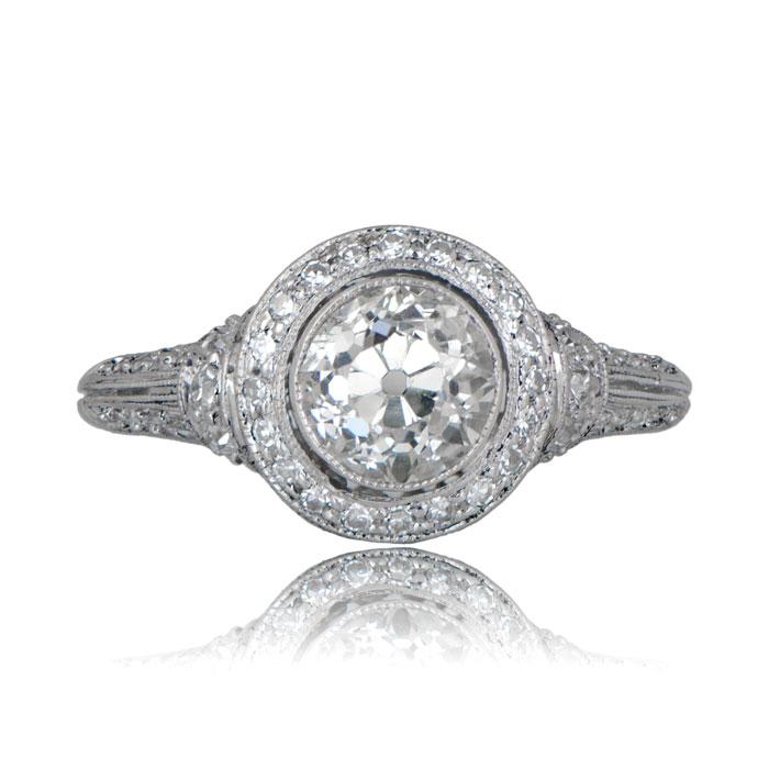 Rare Antique JE Caldwell Ring Estate Diamond Jewelry