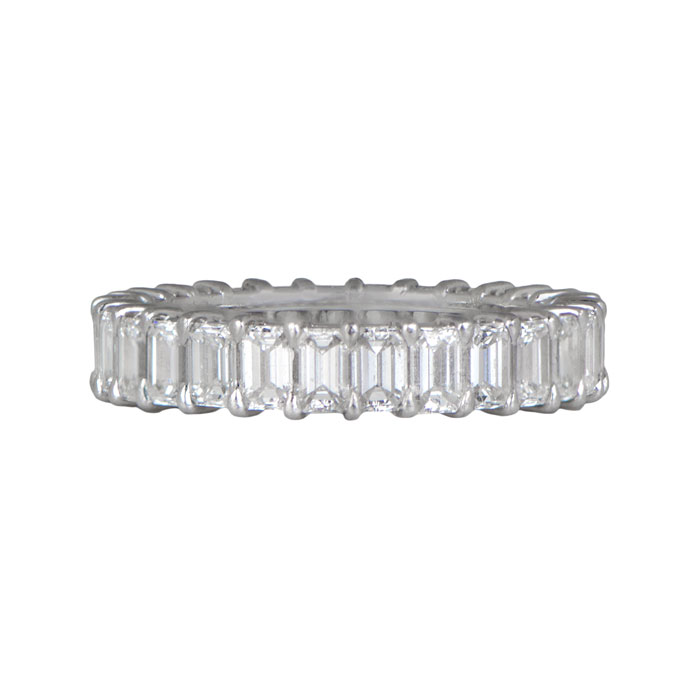 Emerald Cut Wedding Band Estate Diamond Jewelry