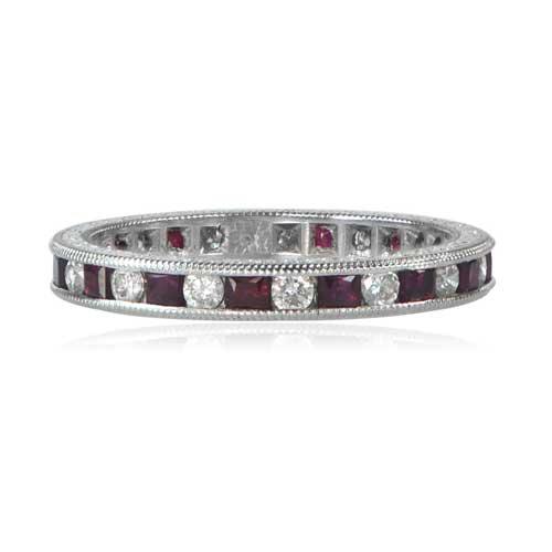 Diamond and ruby wedding band estate diamond jewelry diamond ruby wedding band junglespirit Image collections