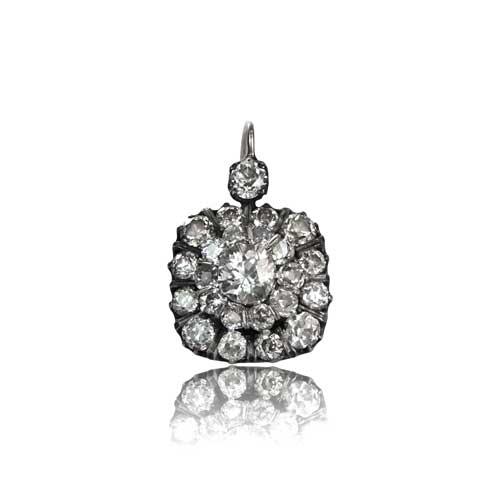 Estate Cer Diamond Earrings S View Single 500x500