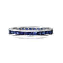 Sapphire Band in Platinum
