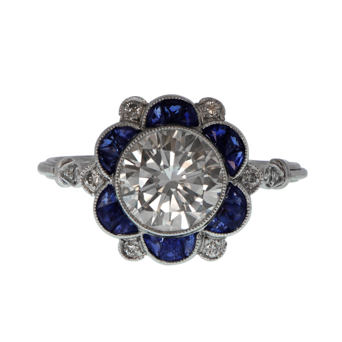 white gold bands diamond mounting engagement sapphire ct bsas in tw ring
