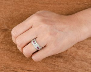 Antique stackable wedding bands styling tips and more how to stack a wedding band junglespirit Images