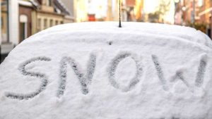 Writing on Snow on Car