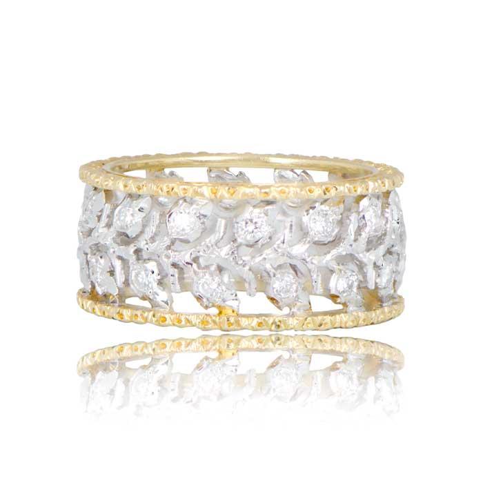 buccellati diamond wedding band estate diamond jewelry